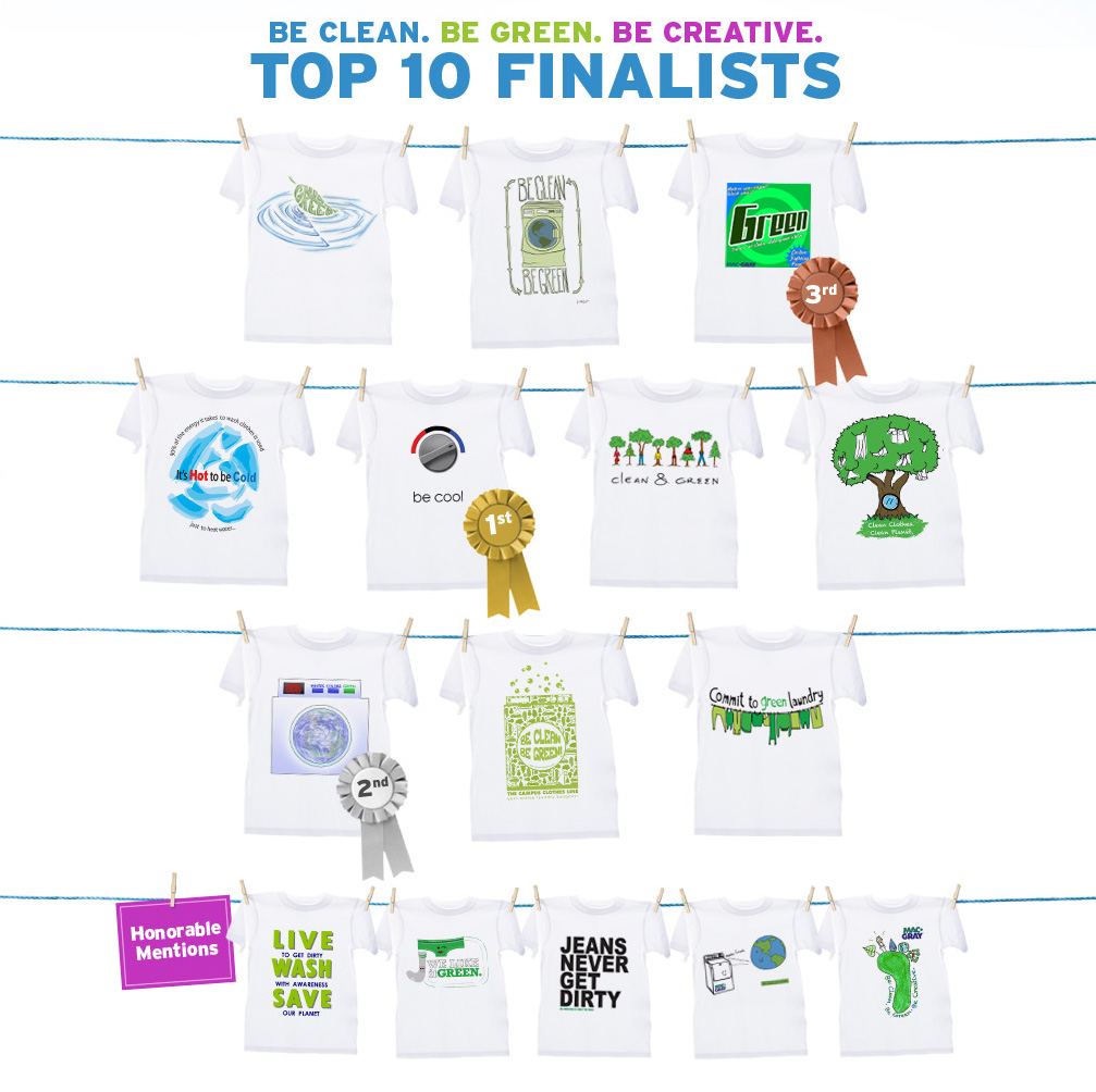 Be Clean. Be Green. Be Creative. Top 10 Finalists